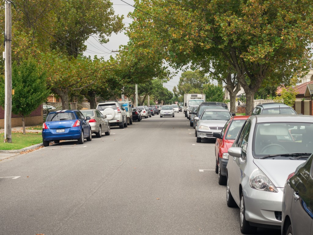 Suburban street in Melbourne