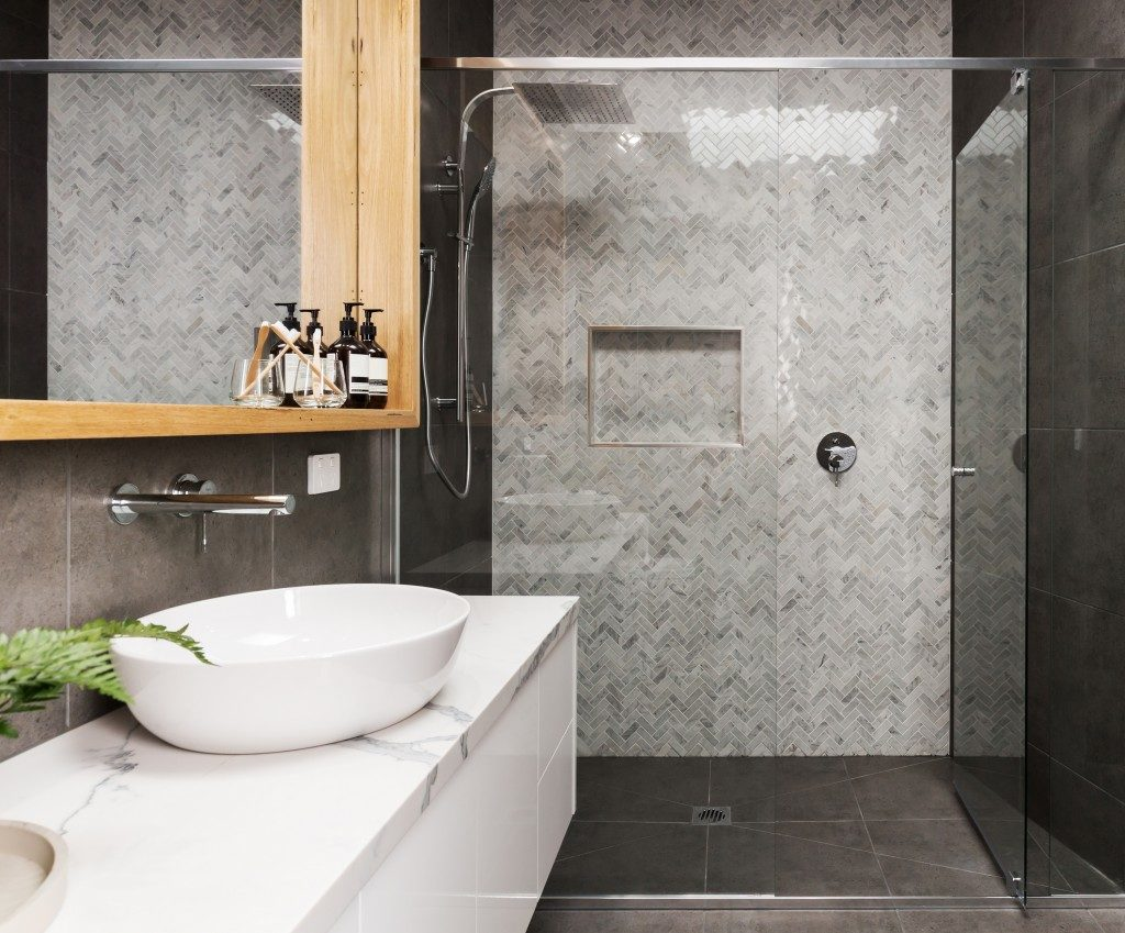 ceramic tiles used in the bathroom