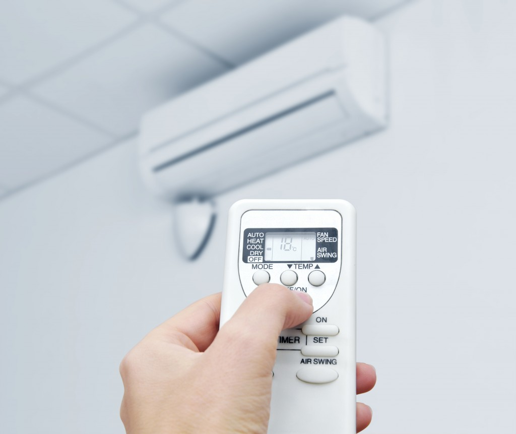 Remote adjusting the air conditioner