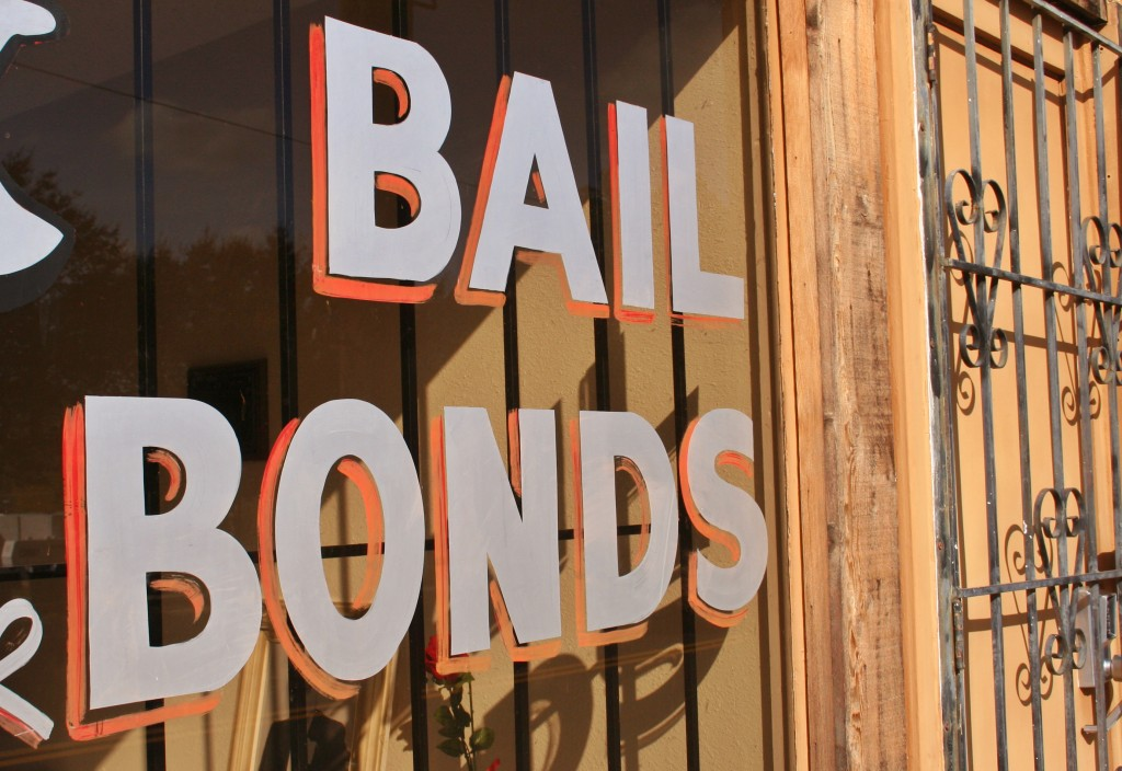 Bail Bonds Sign in Window